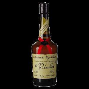 Calvados La Ribaude Prestige 42° Vol. über 20 Jahre im Barrique gereift, Distillerie du Houley